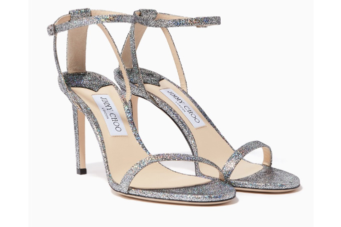 Jimmy Choo - Minny Hologram-Leather Stiletto Sandals